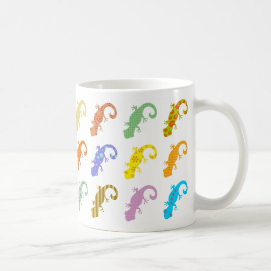 Patterned Lizards Coffee Mug