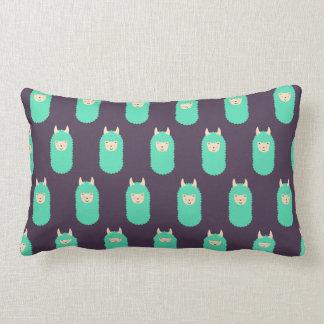 Patterned Llama Emoji Lumbar Cushion