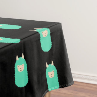 Patterned Llama Emoji Tablecloth