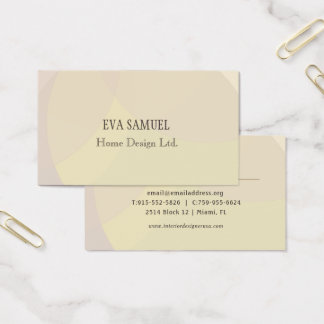 Patterned modern call card - Beige colours