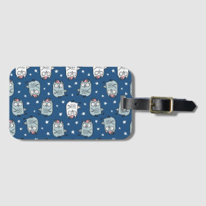 Patterned Owl Luggage Tag