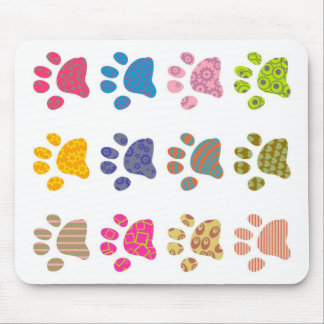 Patterned Paws Mouse Pad