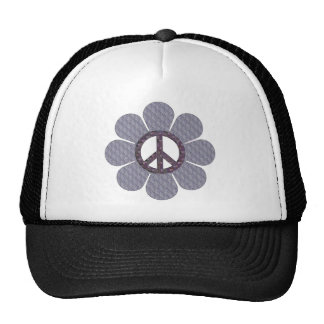 Patterned Peace Flower Cap