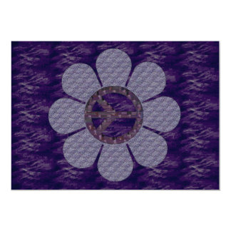 Patterned Peace Flower 5x7 Paper Invitation Card