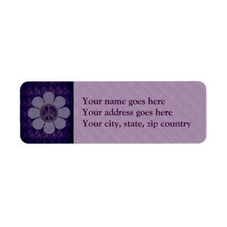 Patterned Peace Flower Return Address Label