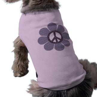 Patterned Peace Flower Sleeveless Dog Shirt