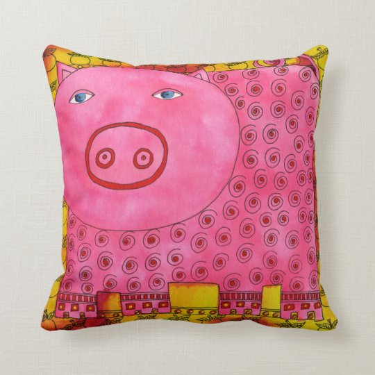 Patterned Pig Cushion