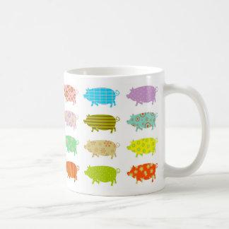 Patterned Pigs Basic White Mug