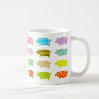 Patterned Pigs Mugs