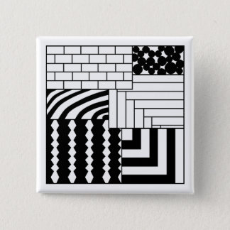 Patterned Rectangles 15 Cm Square Badge