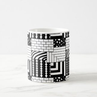 Patterned Rectangles Coffee Mug