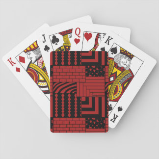 Patterned Rectangles Playing Cards