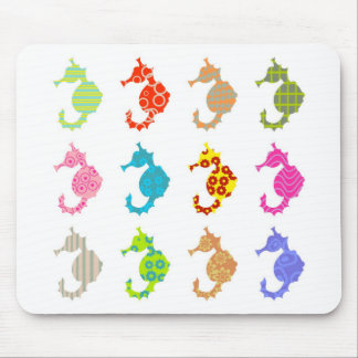 Patterned Seahorse Mouse Mat