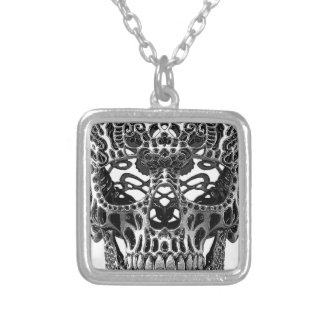 Patterned Skull png Personalized Necklace