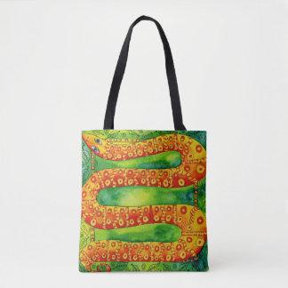 Patterned Snake Tote Bag