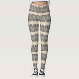 Patterned Stripes Leggings