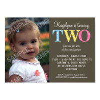2 year old birthday invitations announcements zazzle patterned two birthday party invitation filmwisefo