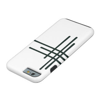 Patterned white phone case