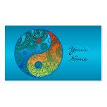 Patterned Yin Yang Orange and Blue