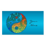 Patterned Yin Yang Orange and Blue Pack Of Standard Business Cards