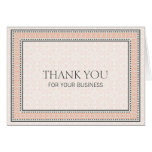 Patterns & Borders 1 Thank You For Your Business Note Card
