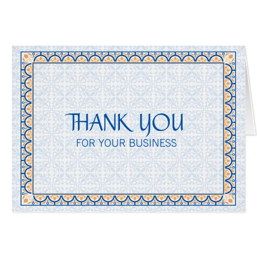 Thank You For Your Business Basket: Patterns & Borders 2 Thank You For Your Business Note Card