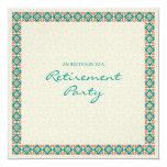 Patterns & Borders 3 Retirement Party Invitation