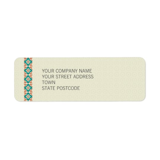 Patterns & Borders 3 Return Address Label