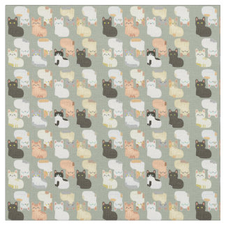Patterns Cat Fabric