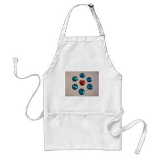 Patterns of color adult apron