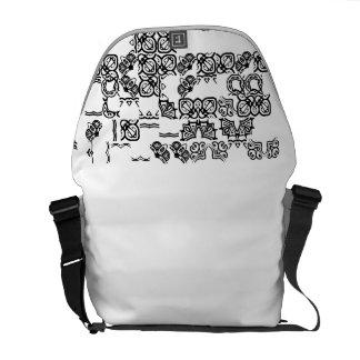 patterns on a bag commuter bag