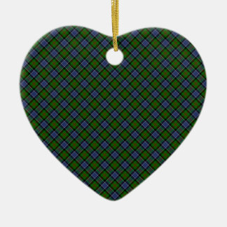 Patterson Clan Tartan Designed Print Ceramic Heart Decoration