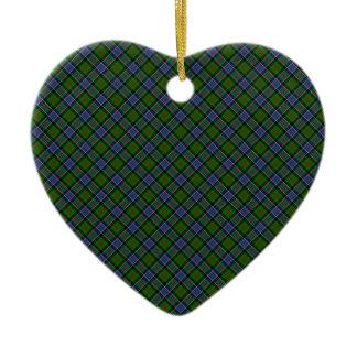Patterson Clan Tartan Designed Print Christmas Ornament