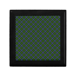 Patterson Clan Tartan Designed Print Small Square Gift Box