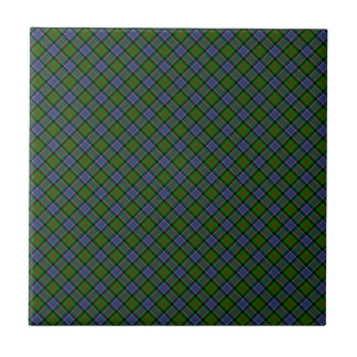 Patterson Clan Tartan Designed Print Small Square Tile