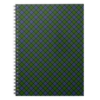 Patterson Clan Tartan Designed Print Spiral Note Book
