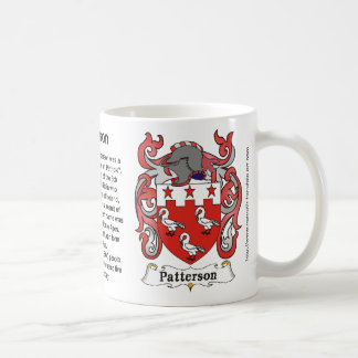 Patterson Family Crest on amug Basic White Mug