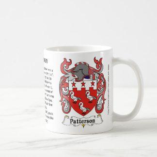 Patterson Family Crest on amug Coffee Mug