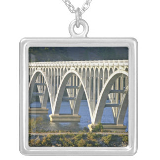 Patterson Memorial Bridge highway 101 over Silver Plated Necklace