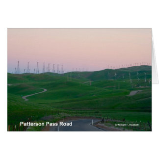 Patterson Pass Road California Products Greeting Cards