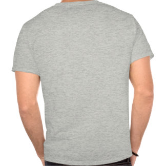 Patton and quote - grey - on back t-shirts