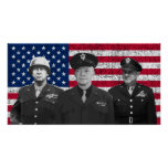 Patton, Eisenhower, and Doolittle Poster