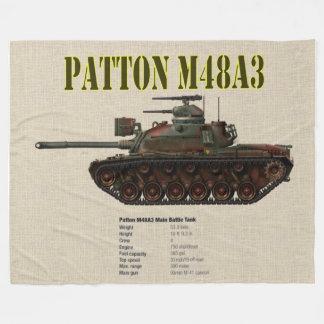 PATTON M48A3 TANK FLEECE BLANKET