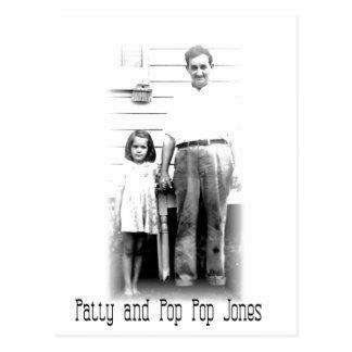 Patty and Pop PoP Jones Postcard