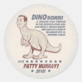 Patty Murray v Dino Sorri Round Sticker
