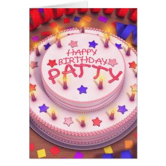 Patty's Birthday Cake Card