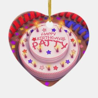 Patty's Birthday Cake Christmas Tree Ornament