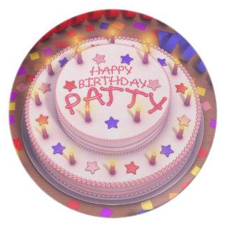 Patty's Birthday Cake Party Plate
