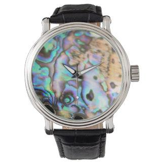 Paua abalone beautiful kiwiana shell wrist watches