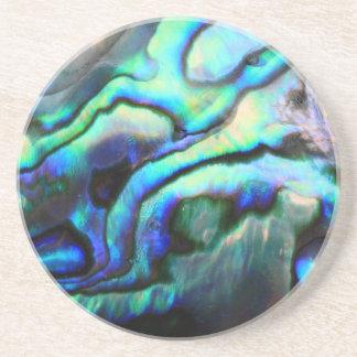Paua abalone detail coaster